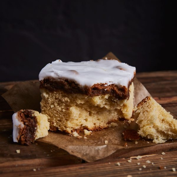 New York Crumb Cake Slice