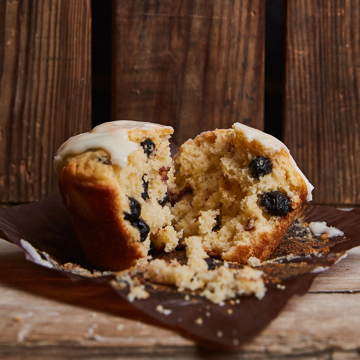 Orange Blueberry Muffin