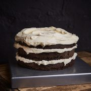 Apple Chocolate Layer Cake